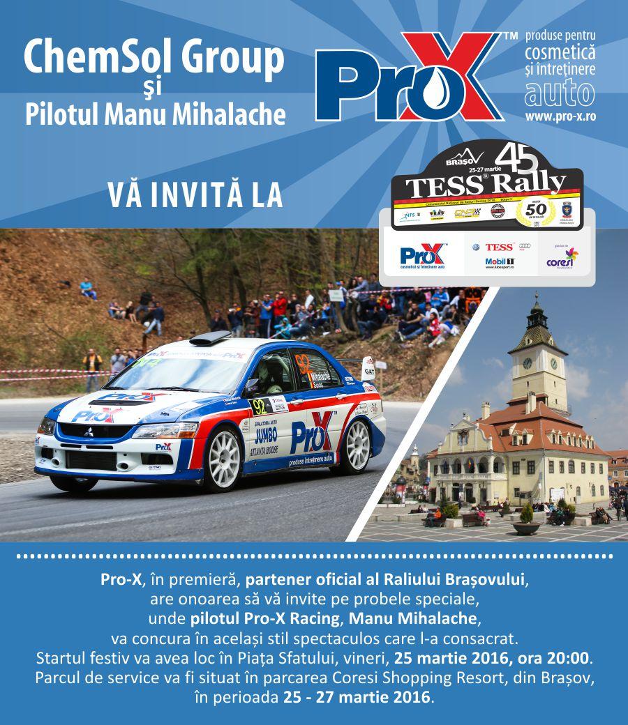 Invitatie ChemSol Raliul Brasovului 2016 TESS Rally 45 Pro-X