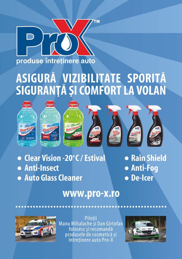 Pro-X este expert in vizibilitate, siguranta si confort la volan de peste 10 ani