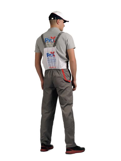 Uniforme spalatorii auto Pro-X - sapca, tricou, pantalon cu pieptar spate