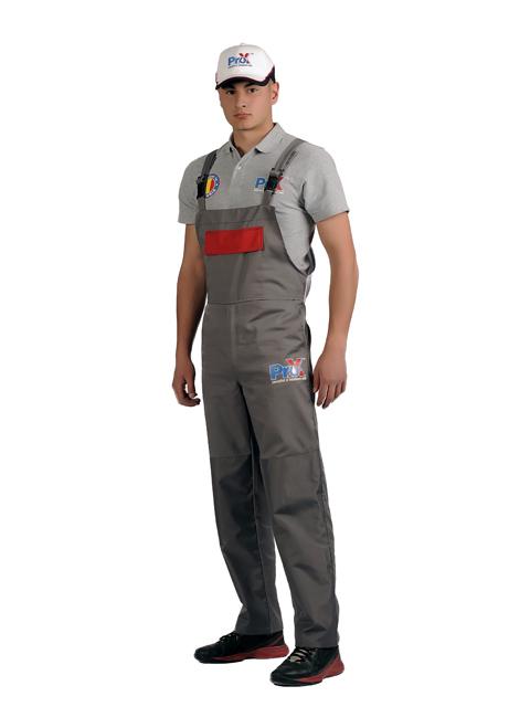 Uniforme spalatorii auto Pro-X - sapca, tricou, pantalon cu pieptar fata